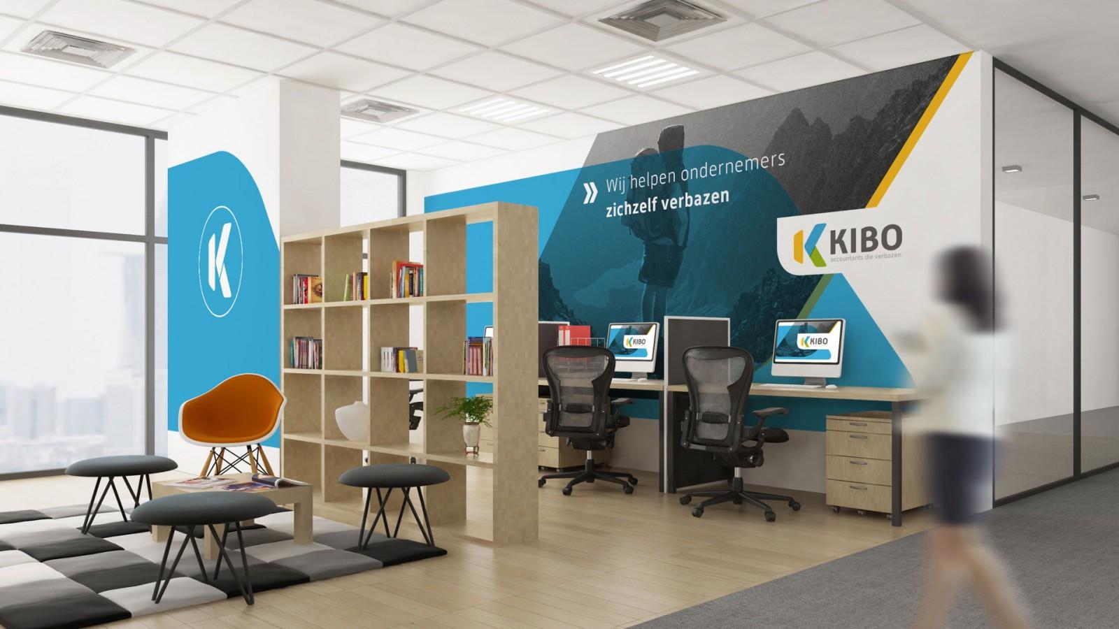 Kibo merkconcept kantoor