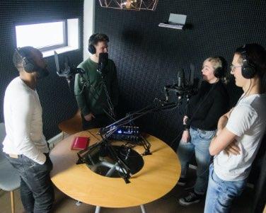 Podcast opnemen met groep