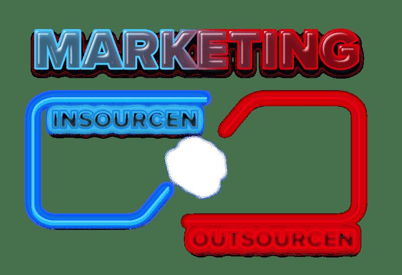 Marketing insourcen vs. marketing outsourcen logo